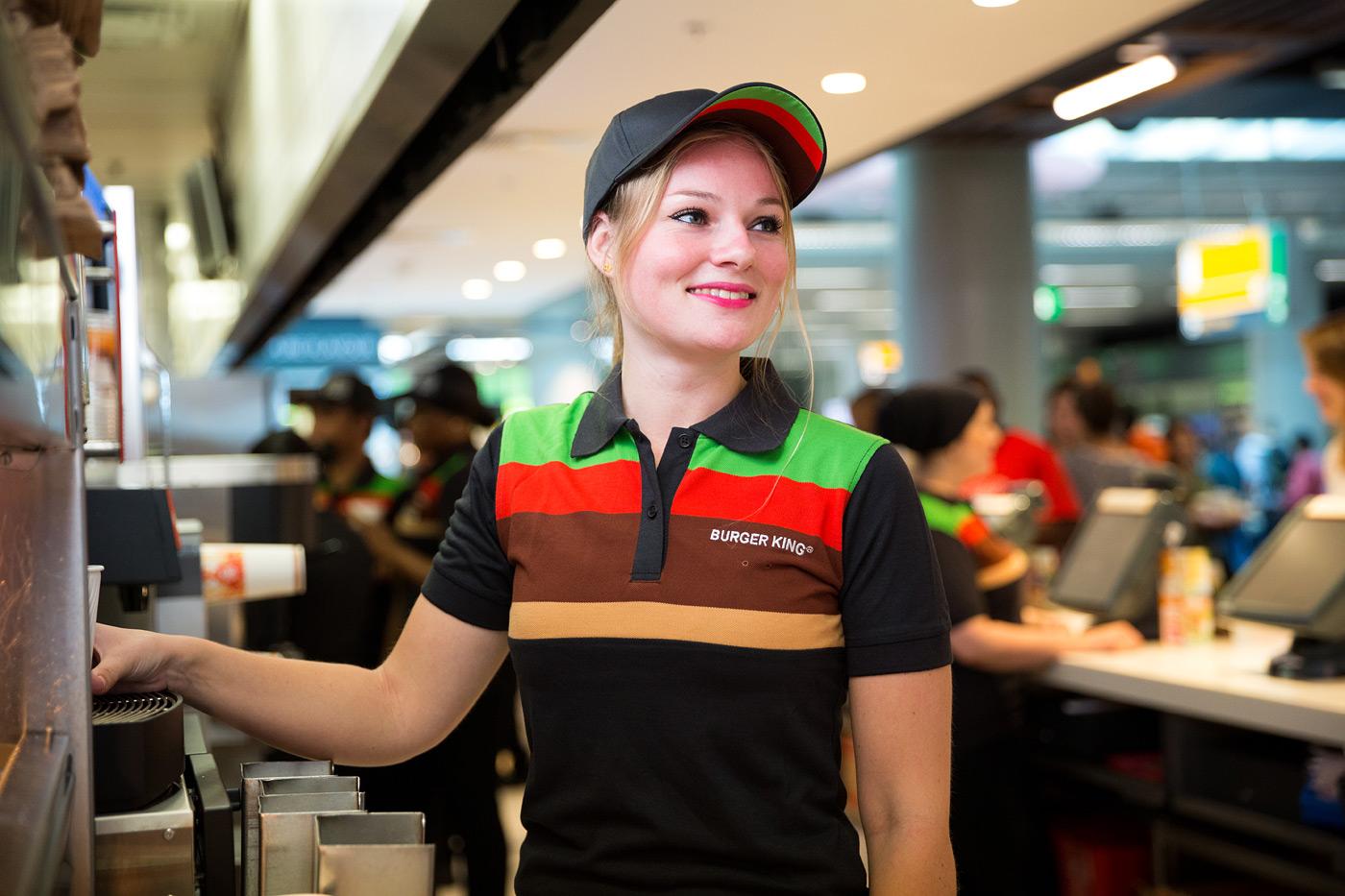 Burger King meisje blond