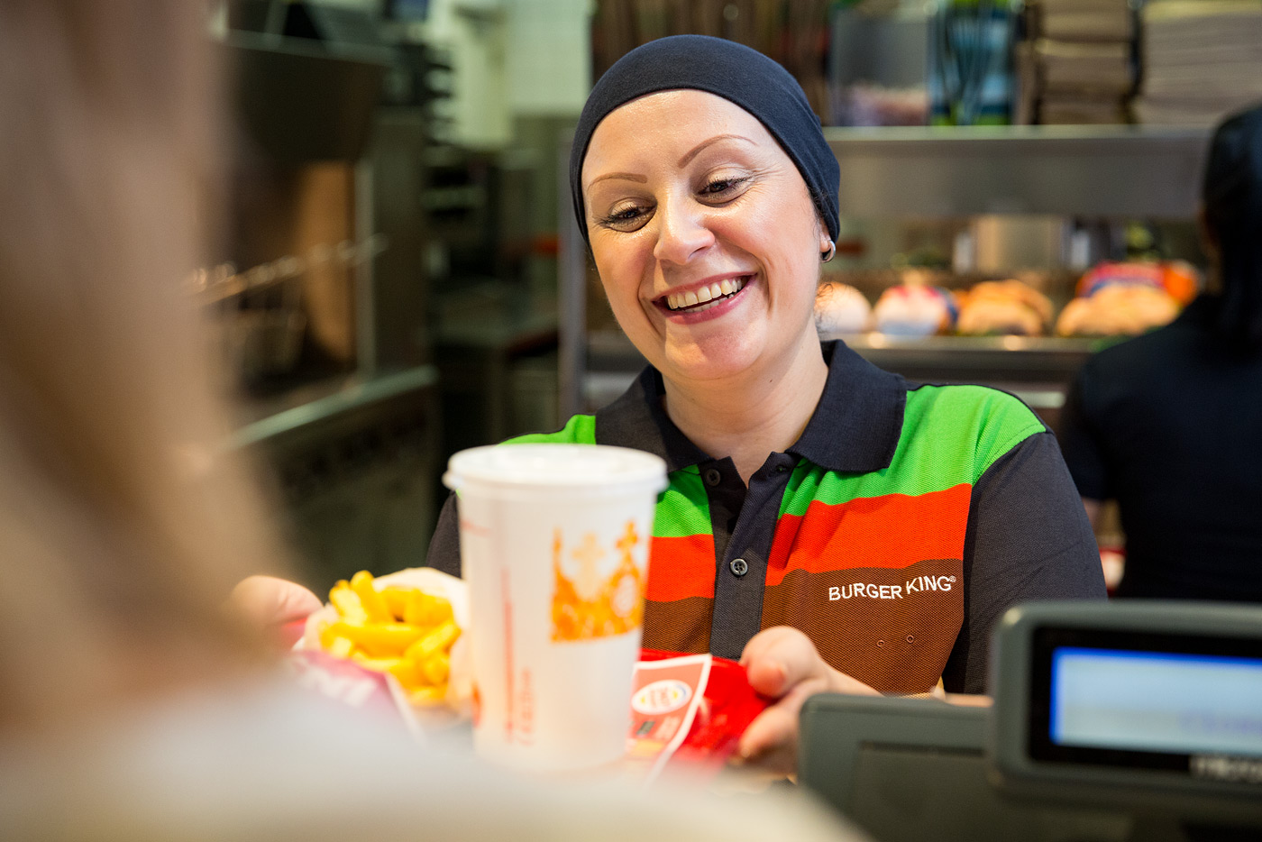 Burger King dame kassa