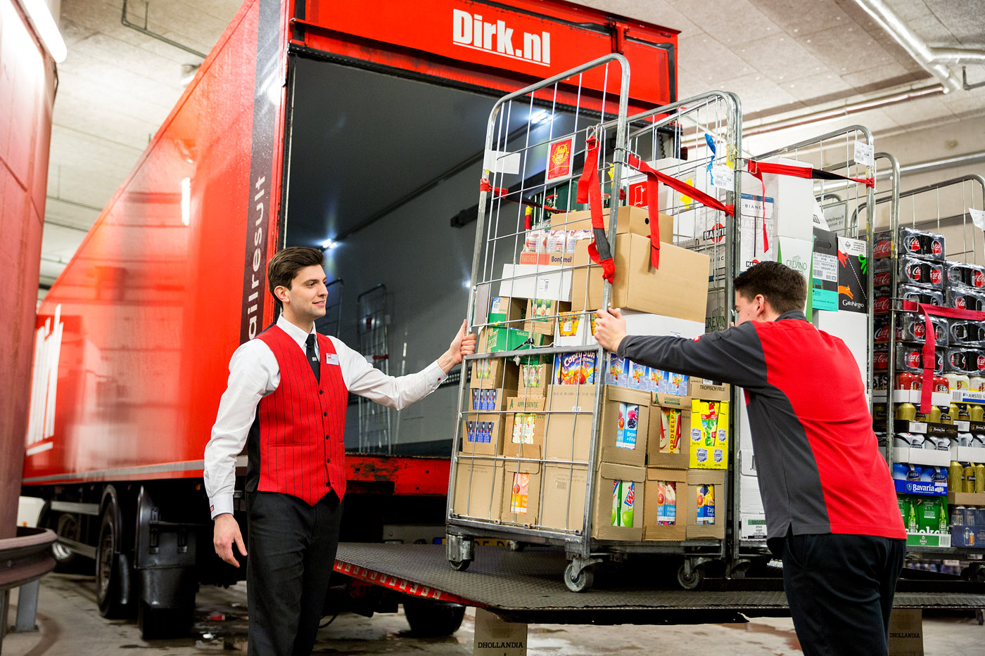 logistiek supermarkt